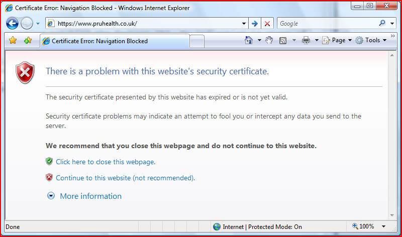 SSL certificate errors - John C. Kirk