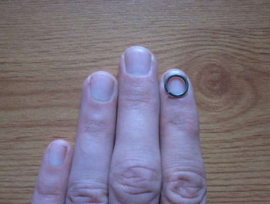 Ring and finger