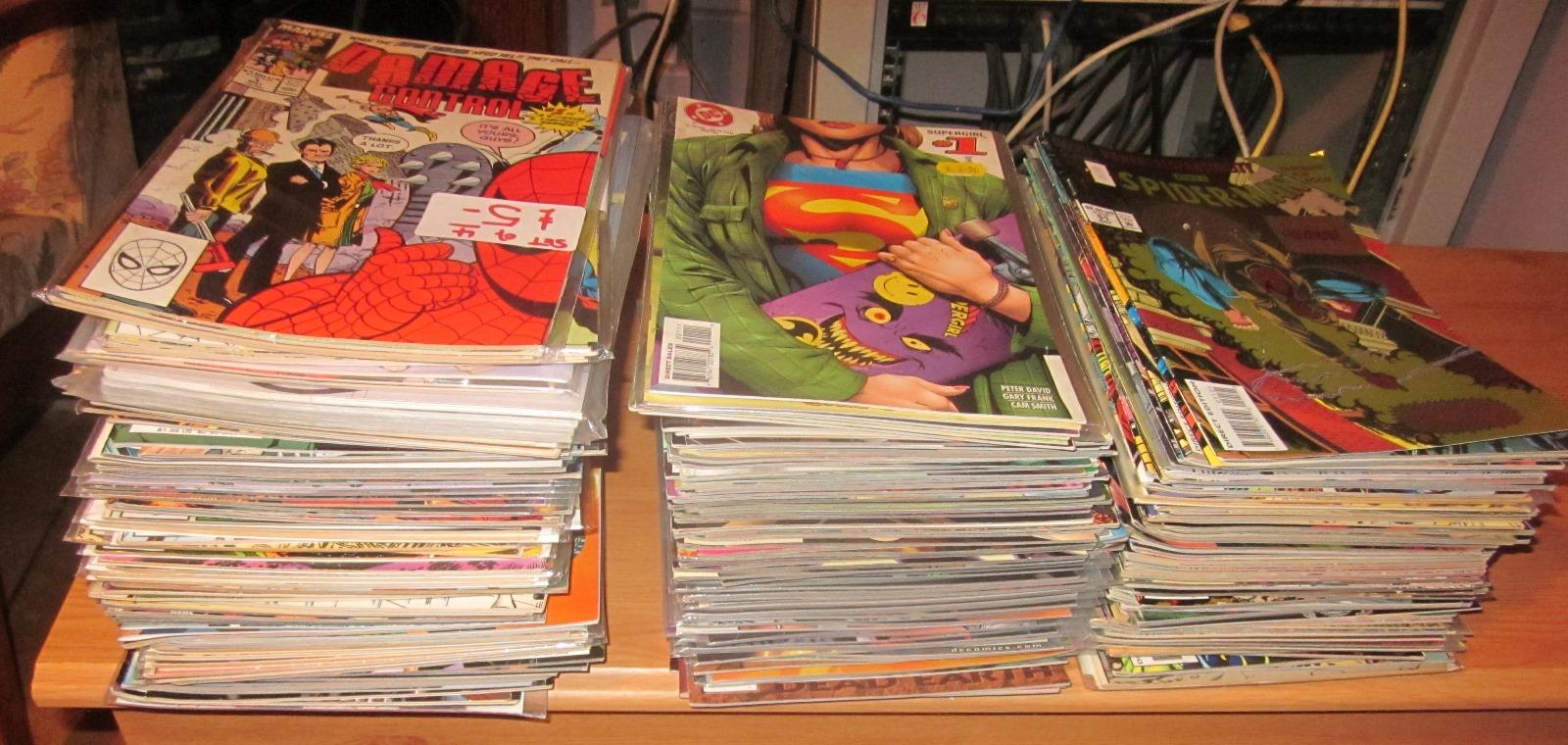 Piles of comics
